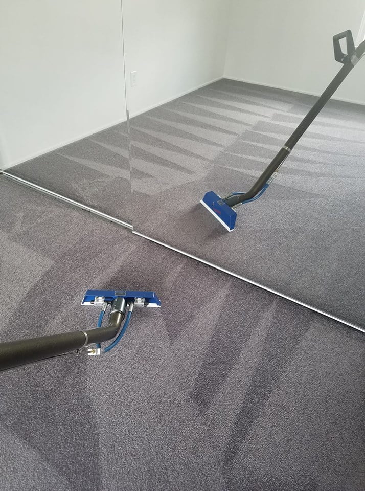 Carpet cleaning in mirror